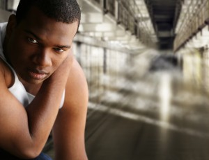 Young man in jail
