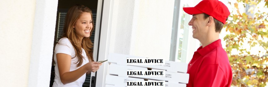Legal advice like pizza delivery